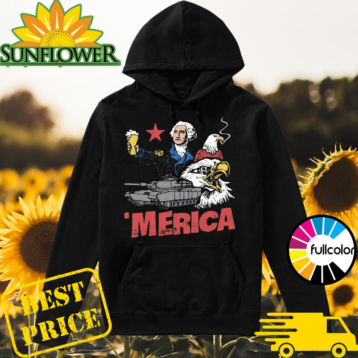 _Merica Eagle American Shirt Hoodie