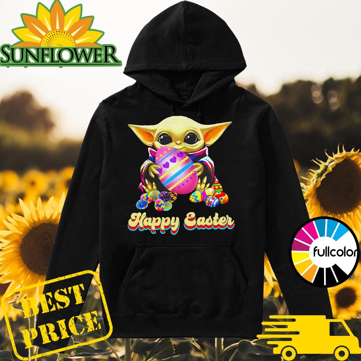 Baby Yoda Hug Easter Egg Happy Easter 2021 Shirt Hoodie
