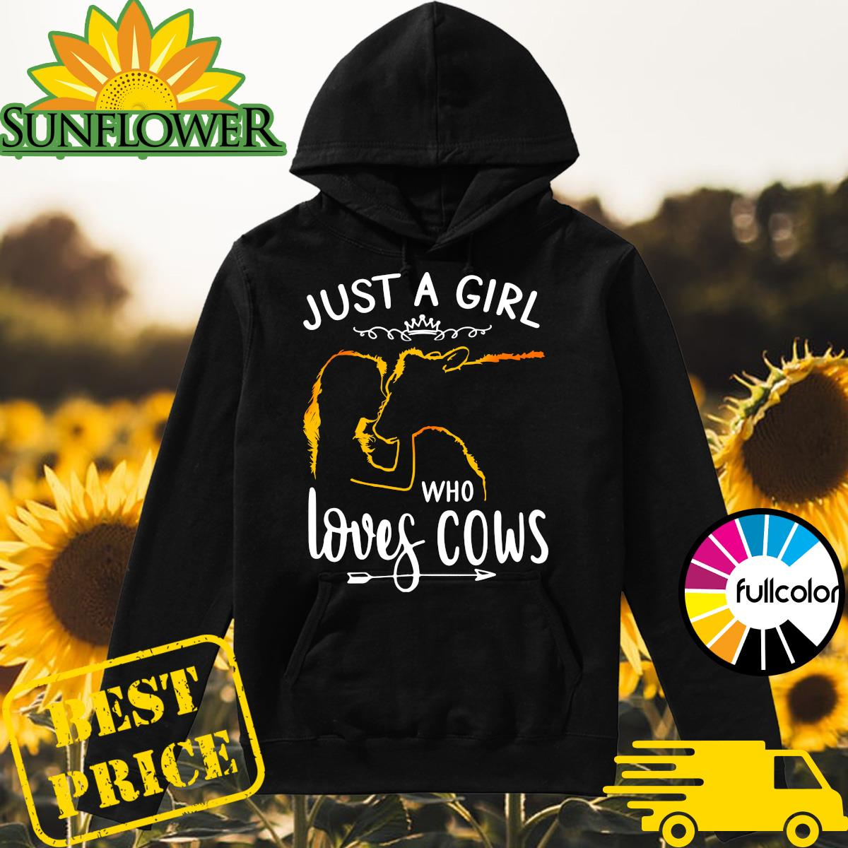 Official Just A Girl Who Loves Cows Shirt Hoodie