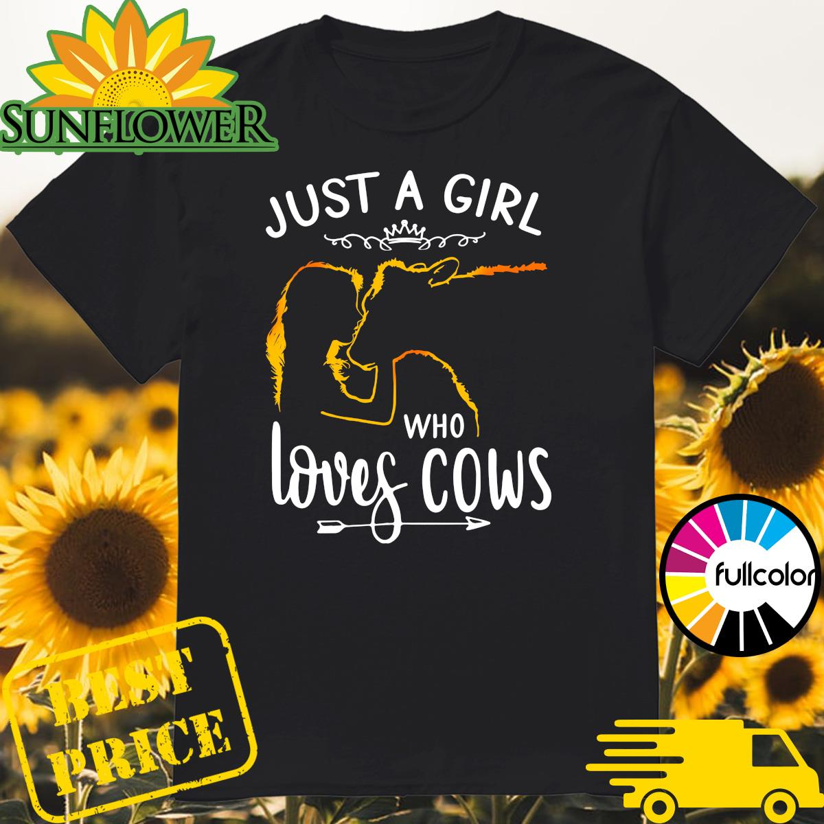 Official Just A Girl Who Loves Cows Shirt