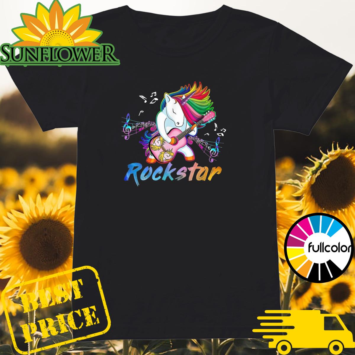 Official Unicorn Rockstar Guitar Shirt Ladies