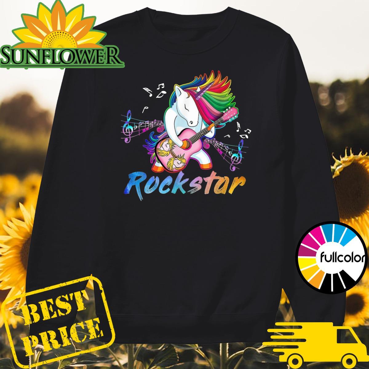 Official Unicorn Rockstar Guitar Shirt Sweater