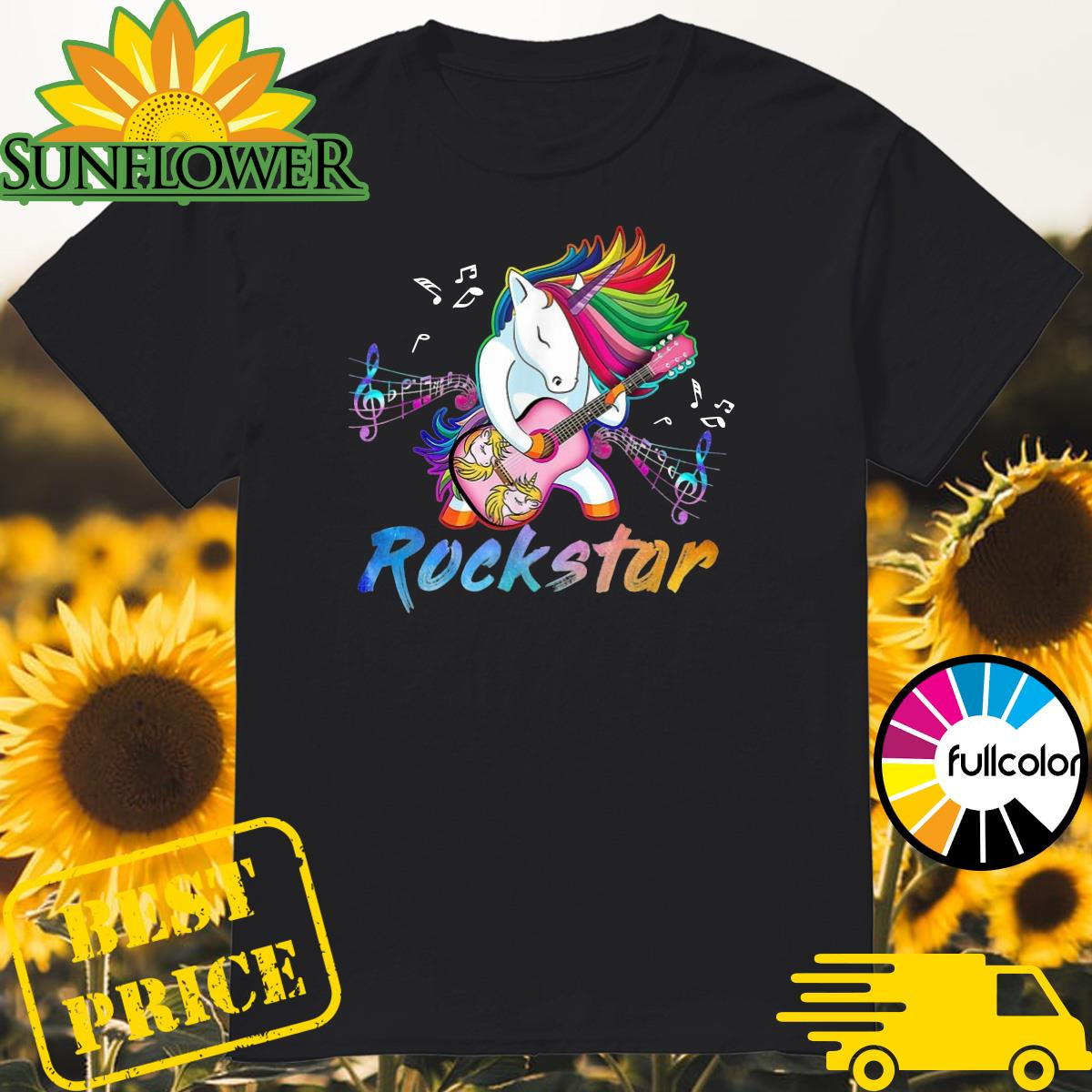 Official Unicorn Rockstar Guitar Shirt