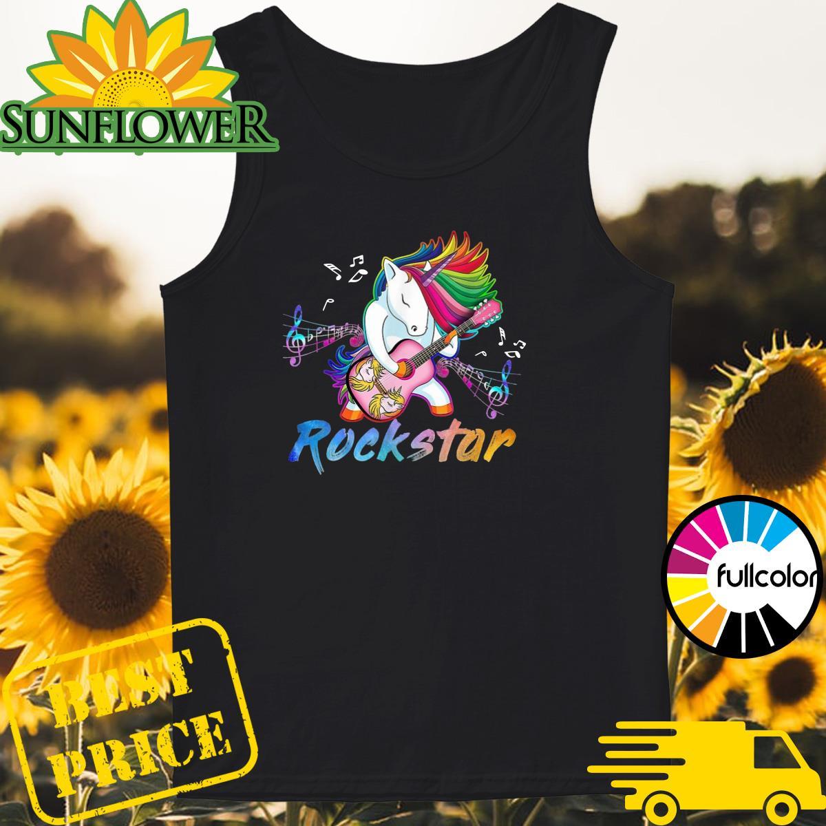 Official Unicorn Rockstar Guitar Shirt Tank-top