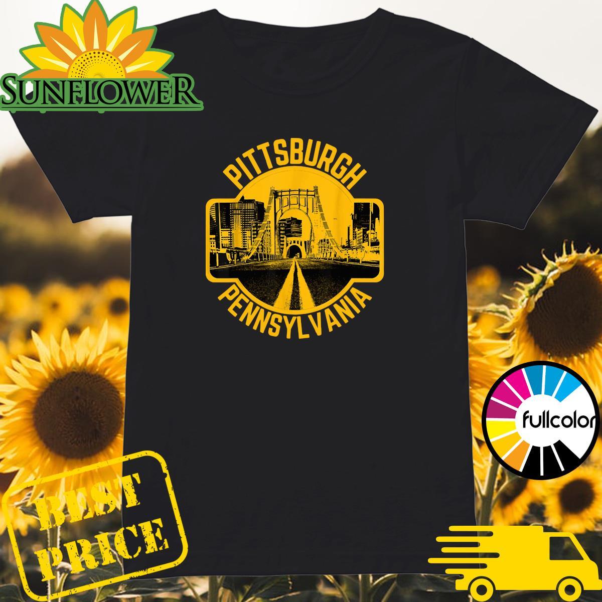 Pittsburgh Pennsylvania Steel City Skyline Home 412 Shirt Ladies