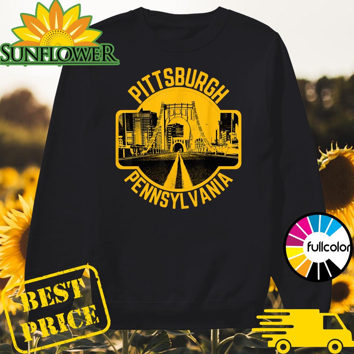 Pittsburgh Pennsylvania Steel City Skyline Home 412 Shirt Sweater