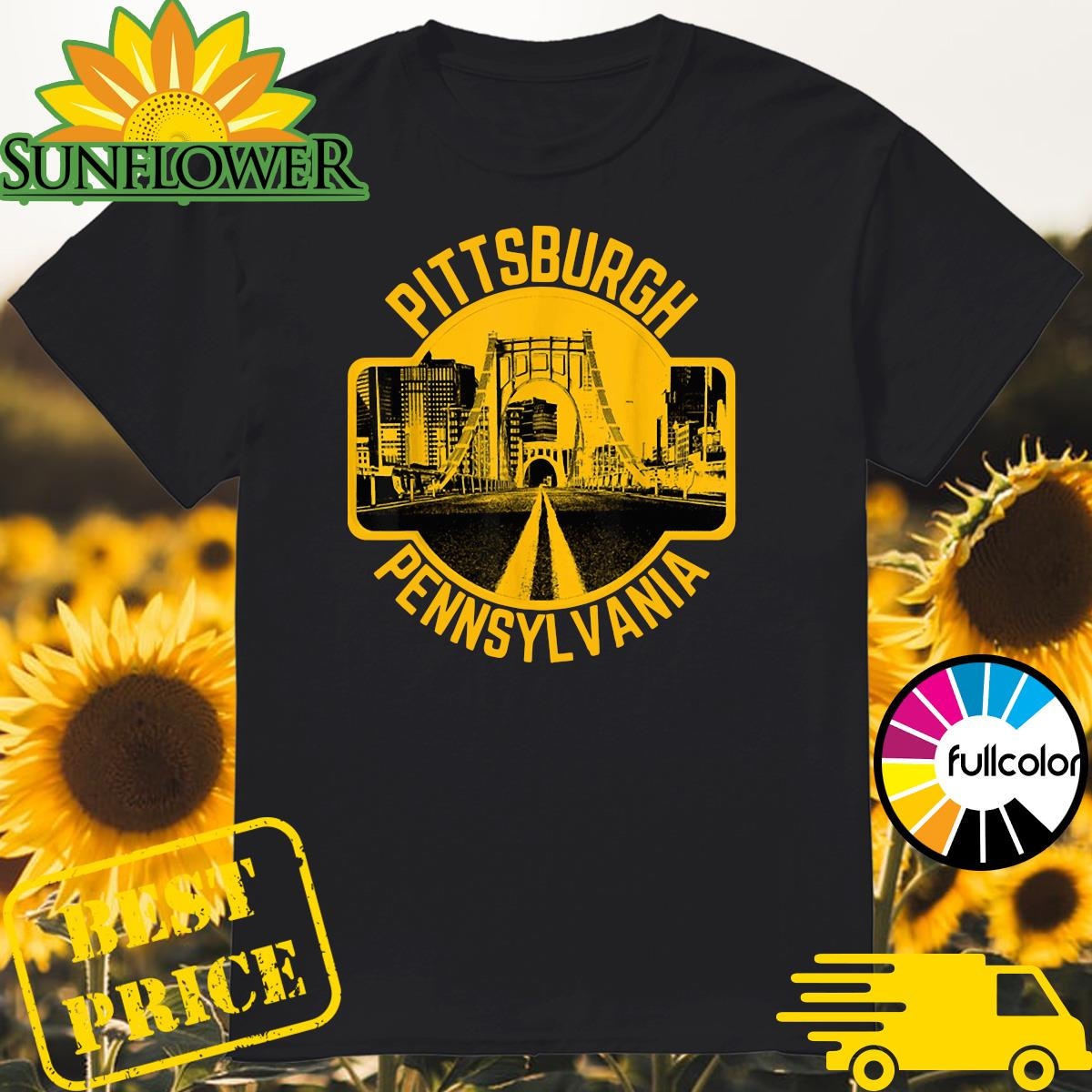 Pittsburgh Pennsylvania Steel City Skyline Home 412 Shirt