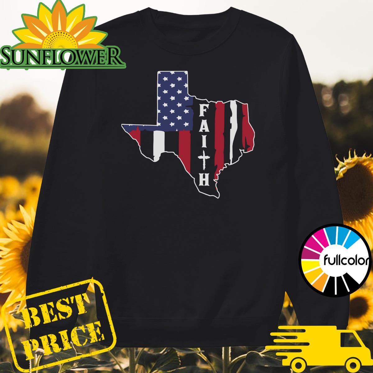 Texas American Flag Jesus Faith Shirt Sweater