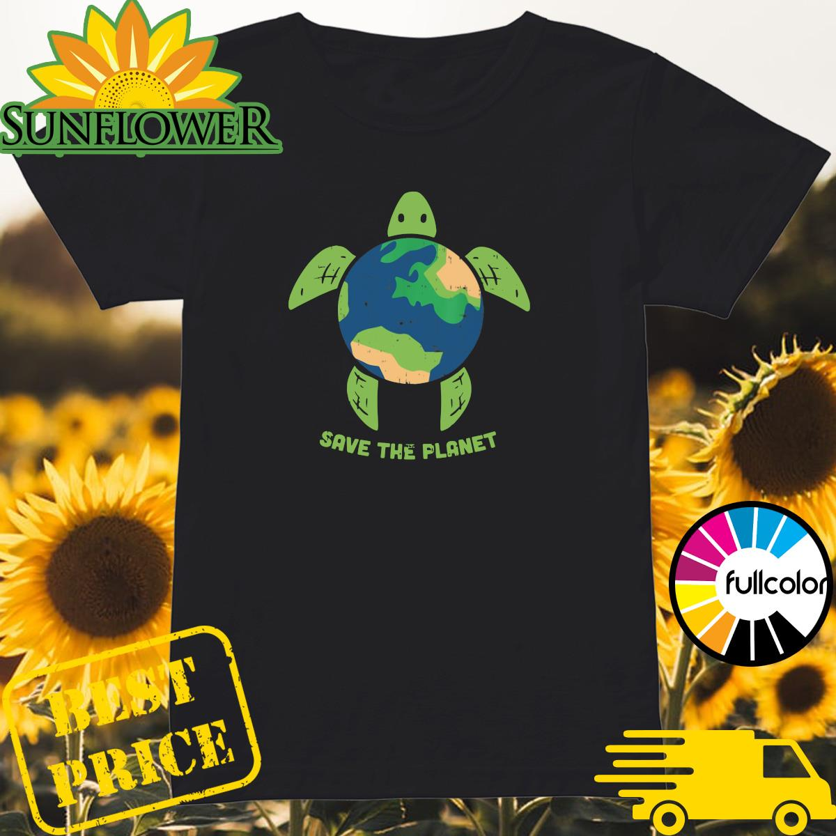 Turtle Recycled Ocean Save The Planet Shirt Ladies