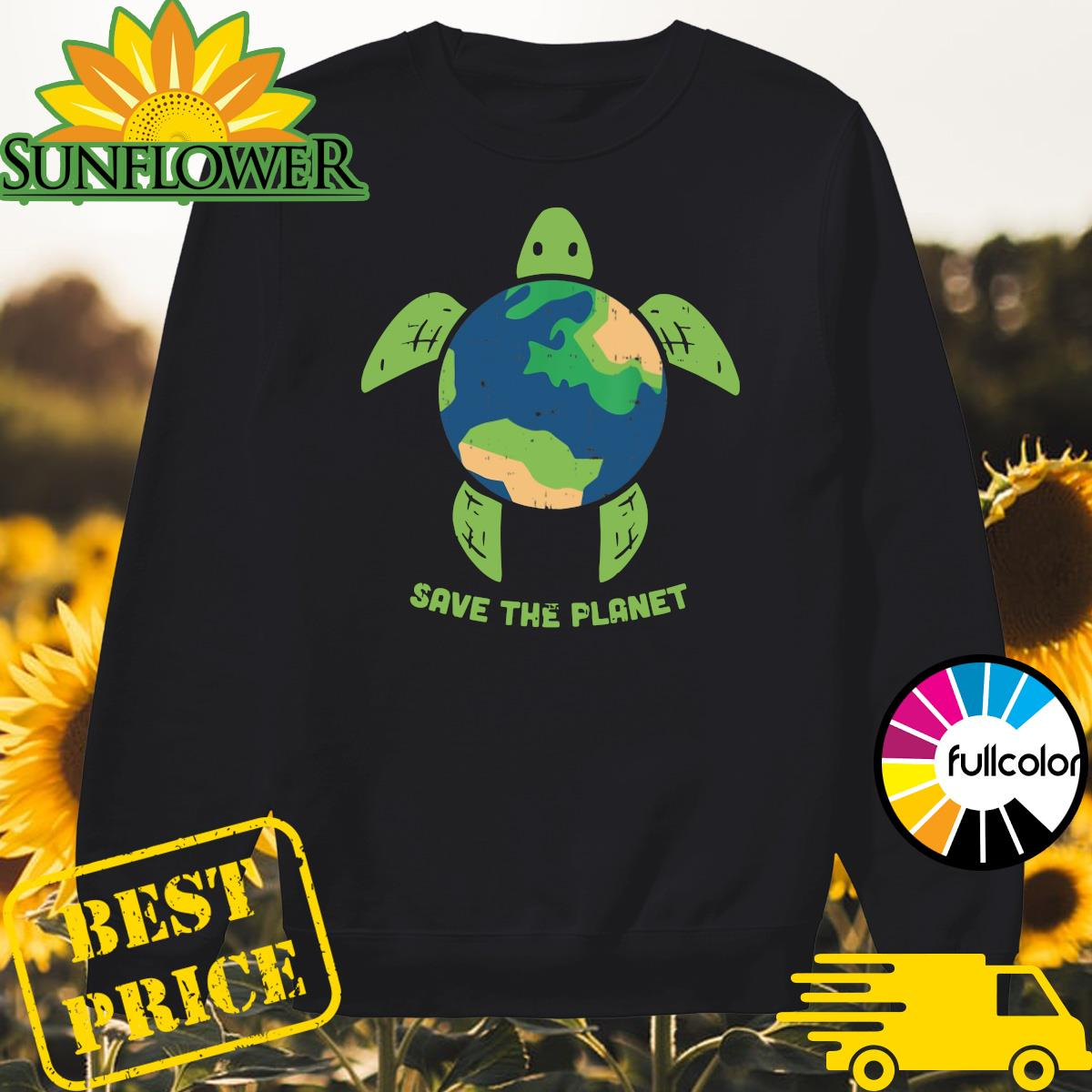 Turtle Recycled Ocean Save The Planet Shirt Sweater