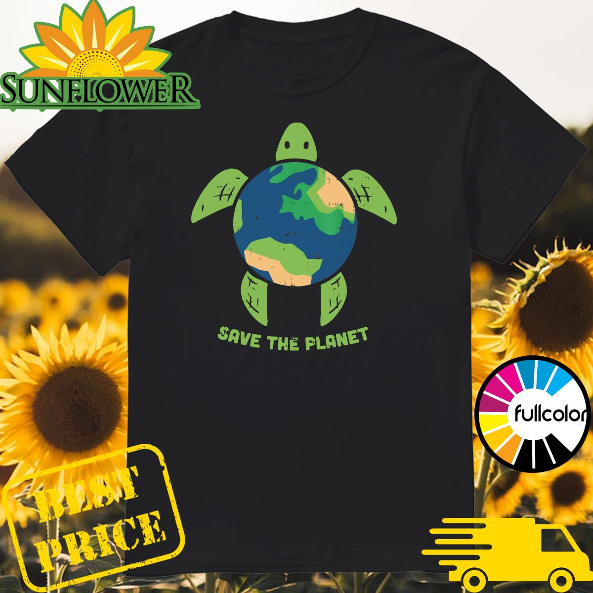 Turtle Recycled Ocean Save The Planet Shirt