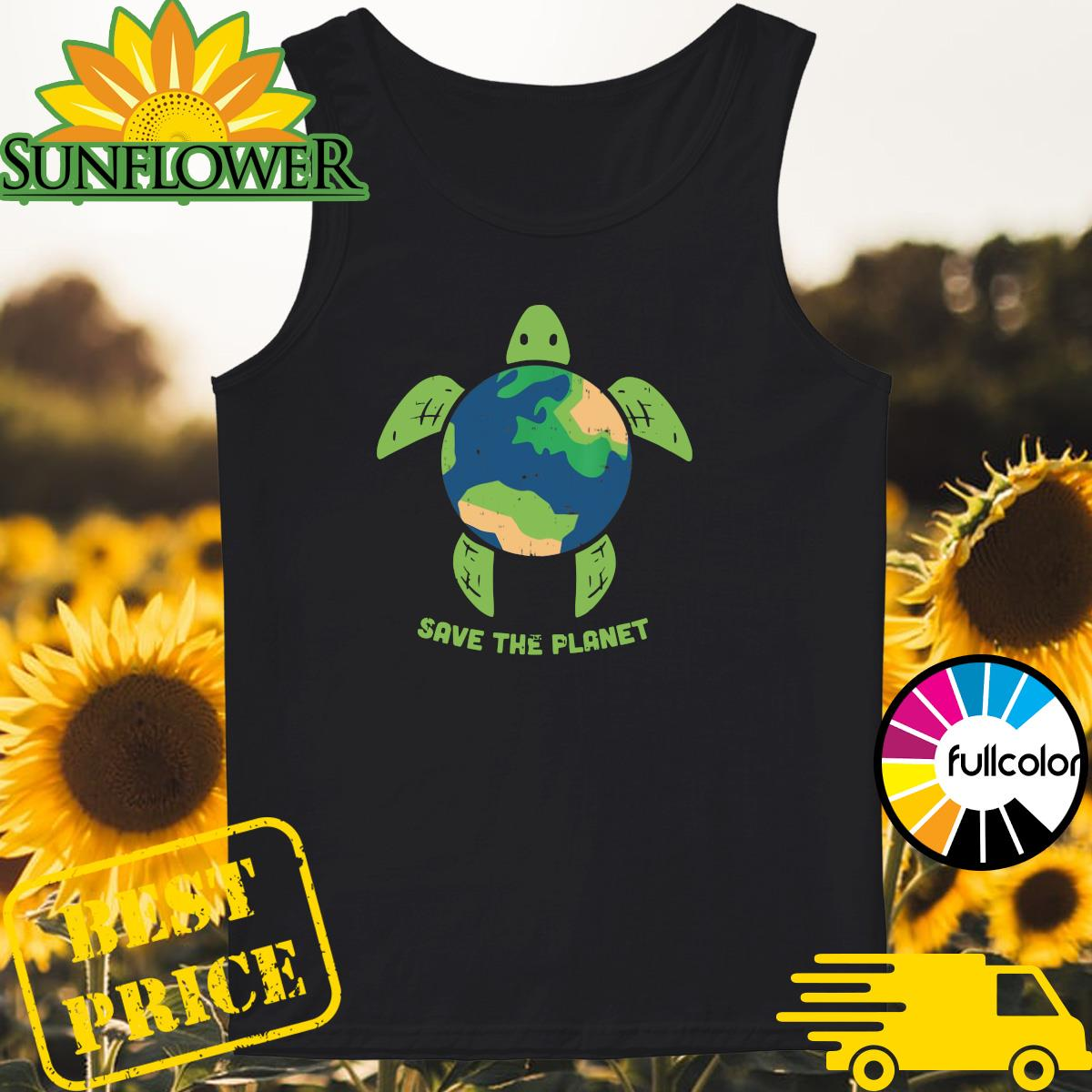 Turtle Recycled Ocean Save The Planet Shirt Tank-top