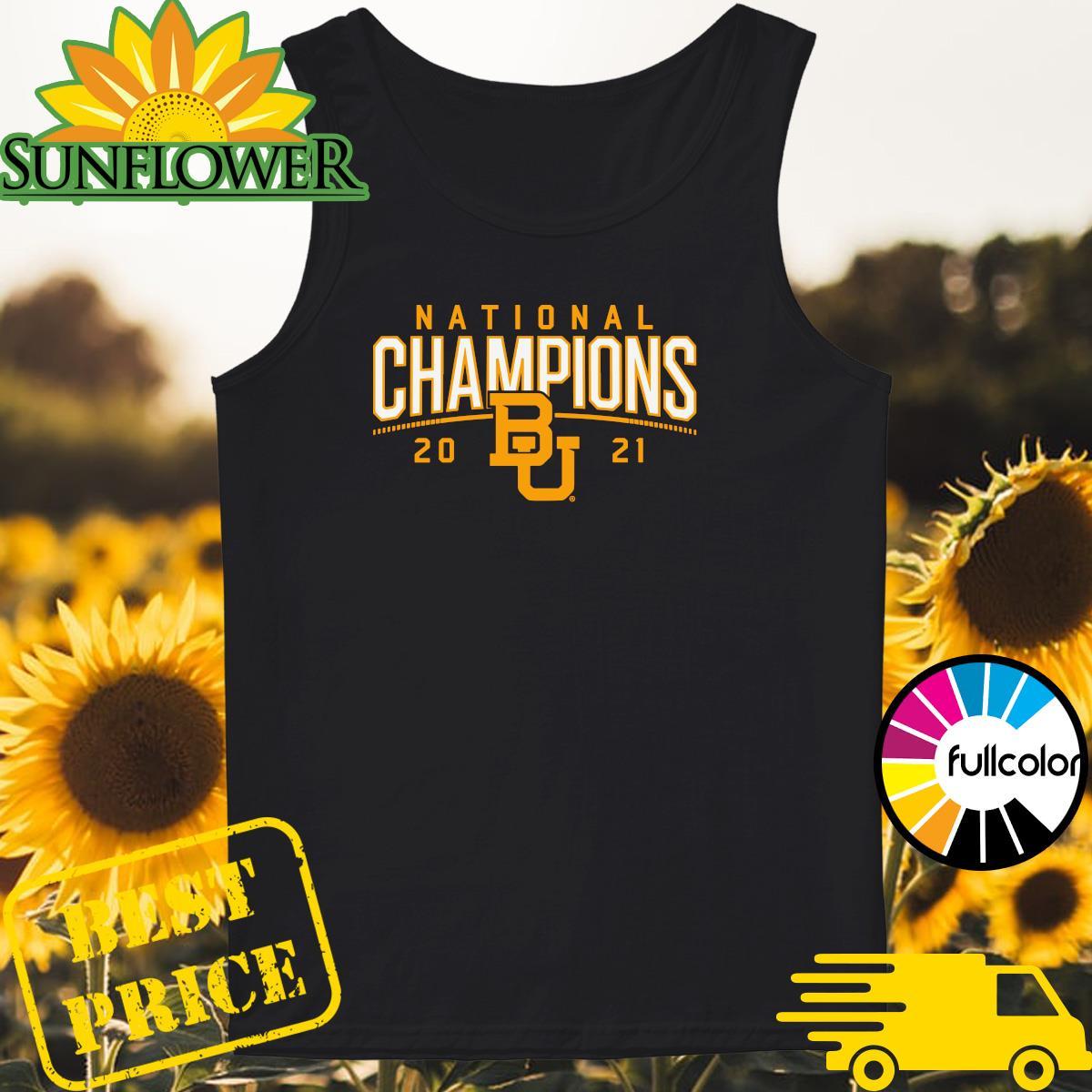 BU Baylor Bears 2021 National Champion Shirt Tank-top