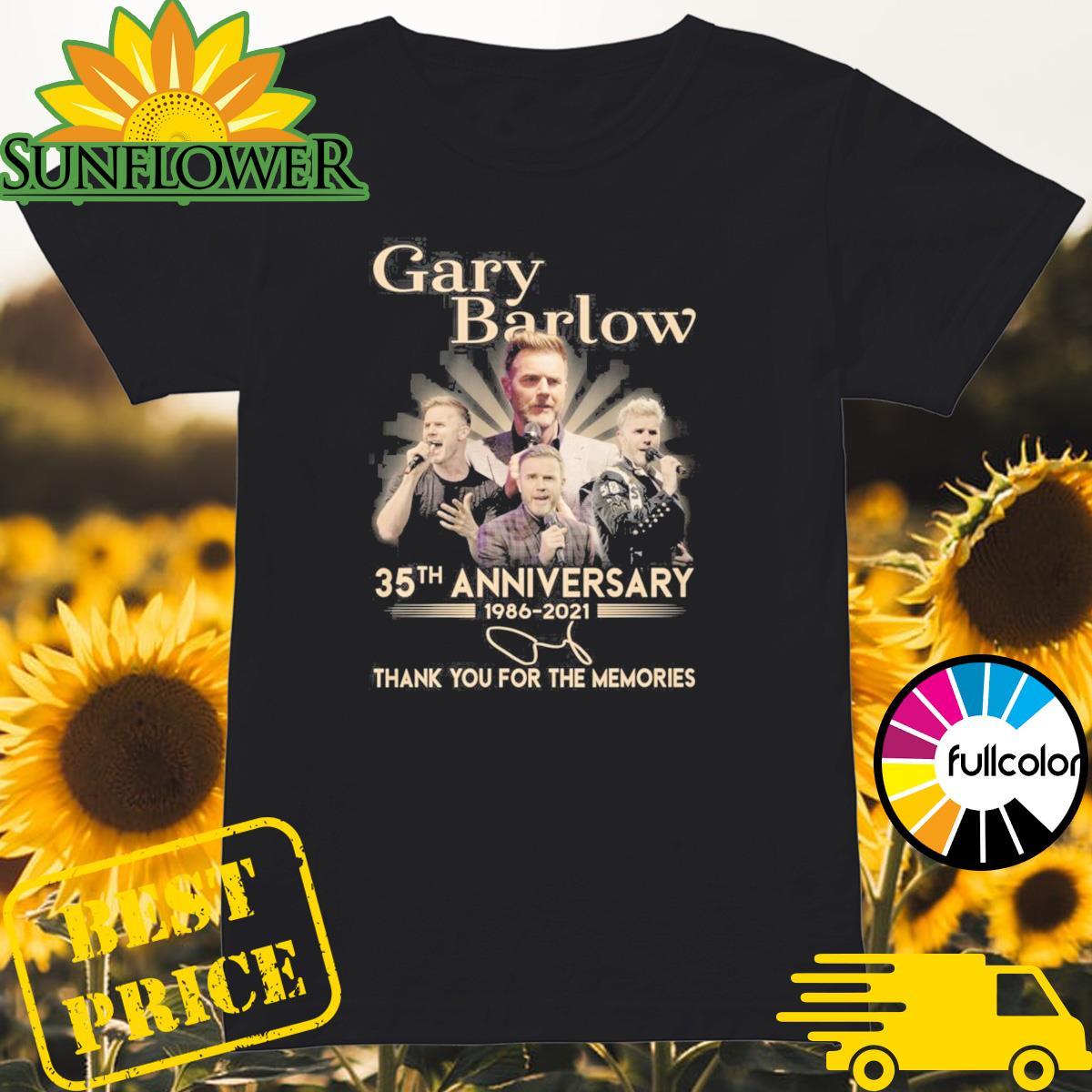 Gary Barlow 35th Anniversary 1986 2021 Signature Thank You For The Memories Shirt Ladies