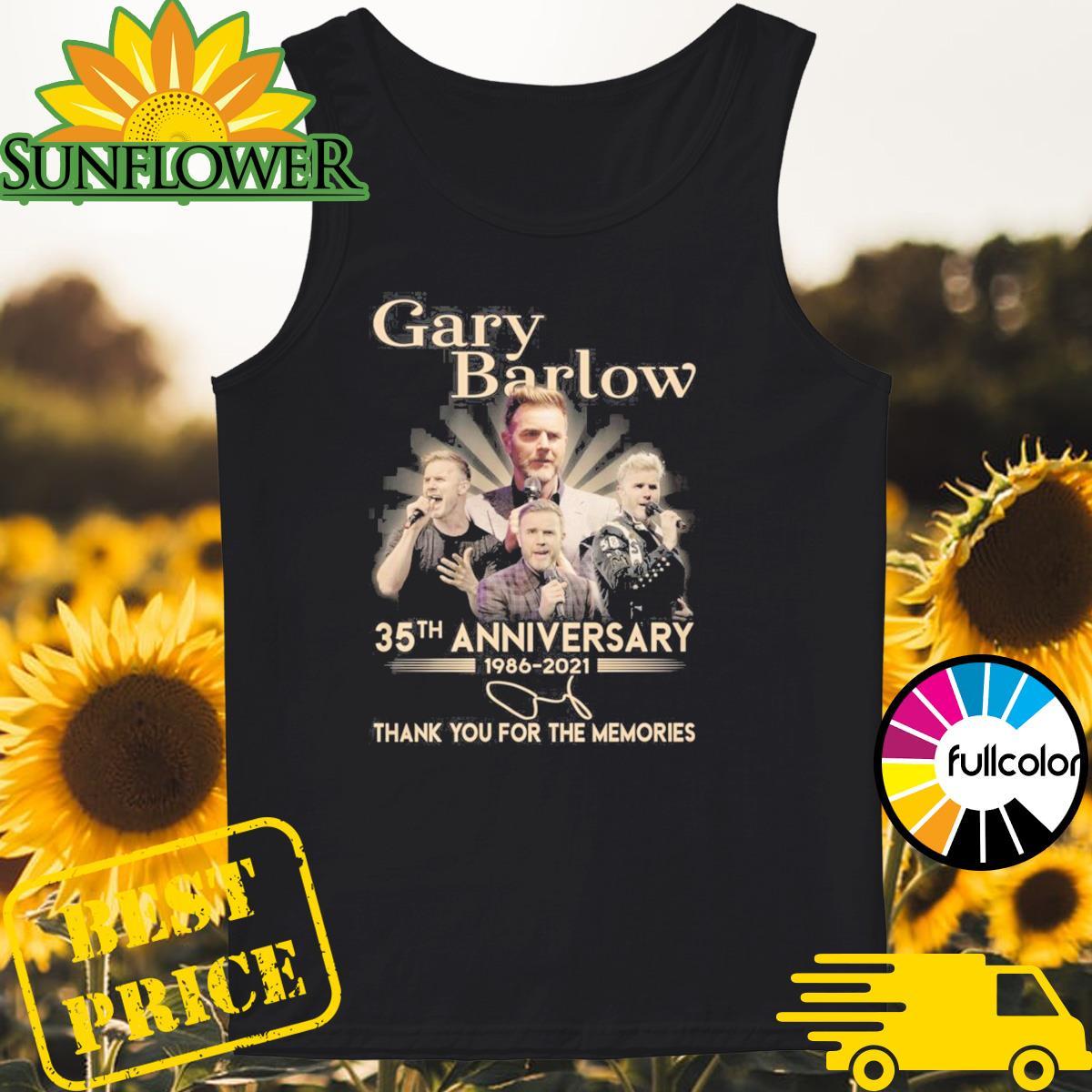 Gary Barlow 35th Anniversary 1986 2021 Signature Thank You For The Memories Shirt Tank-top