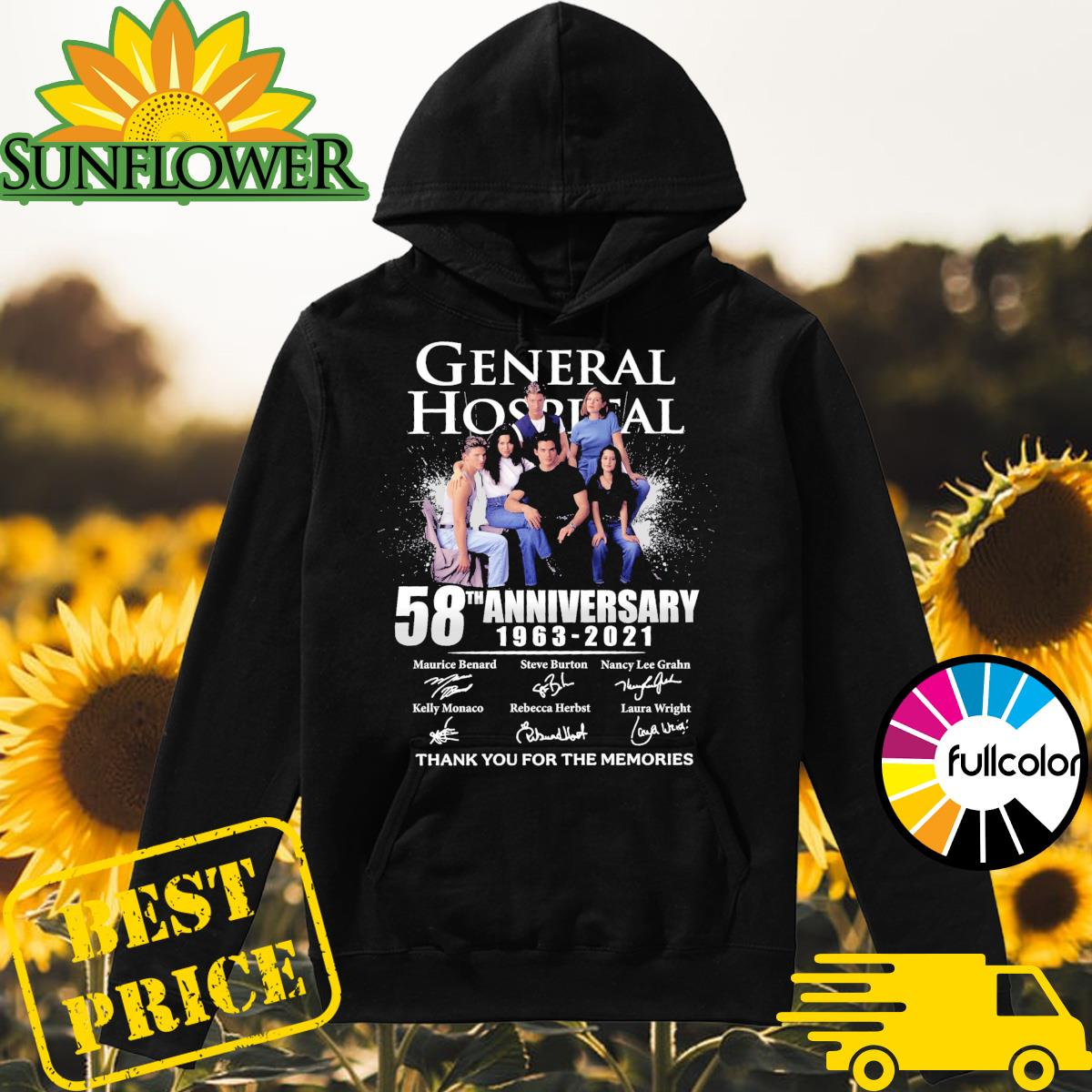 General Hospital 58th Anniversary 1963 2021 Signatures Thank You For The Memories Shirt Hoodie