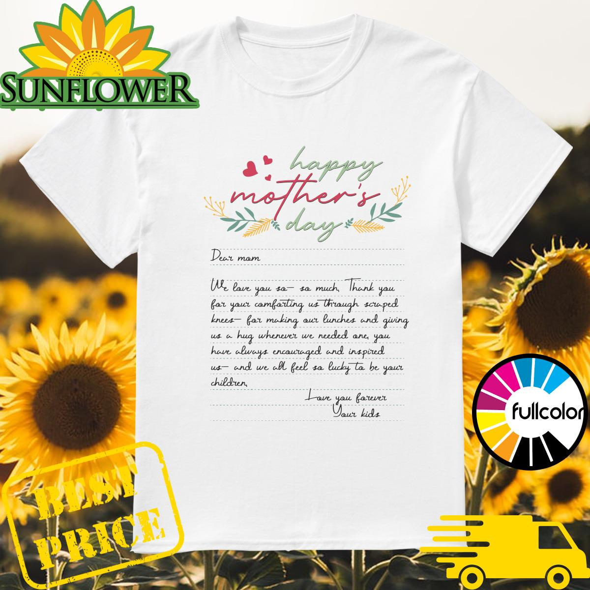 Letters From Mother Happy Mother's Day 2021 Shirt