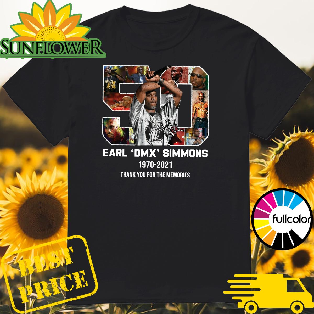 Official 50 Years 1970 2021 The Earl DMX Simmons Signature Thank You For The Memories Shirt