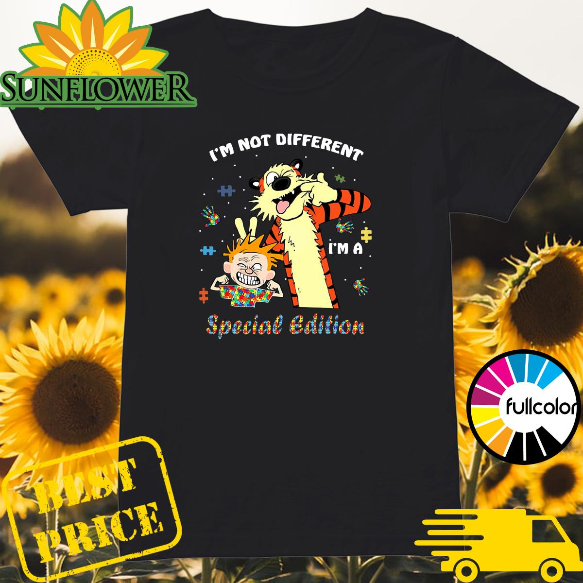 Official Autism Calvin And Hobbes I'm Not Different I'm A Special Edition Autism Awareness Shirt Ladies
