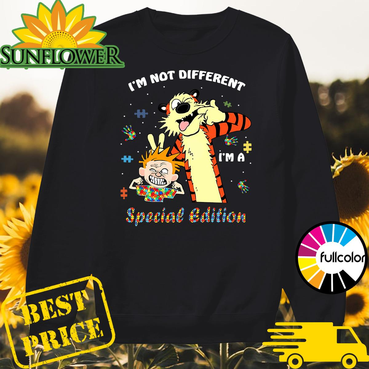 Official Autism Calvin And Hobbes I'm Not Different I'm A Special Edition Autism Awareness Shirt Sweater