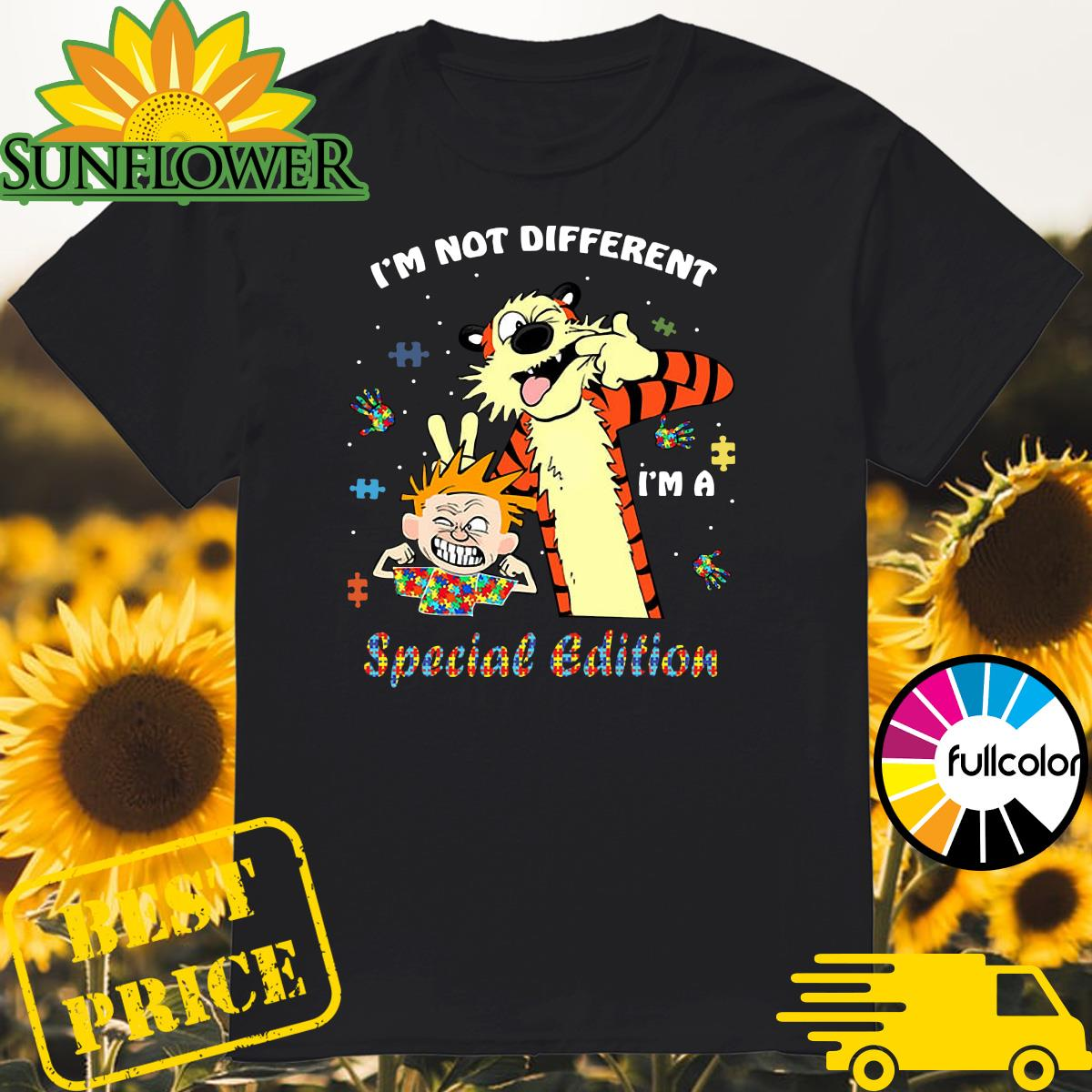 Official Autism Calvin And Hobbes I'm Not Different I'm A Special Edition Autism Awareness Shirt