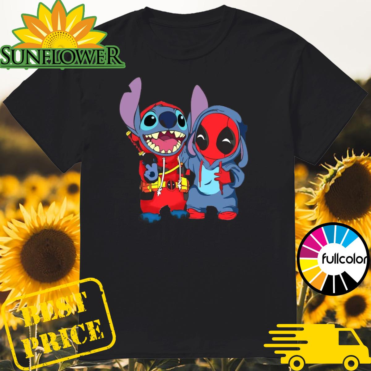 Official Baby Stitch And Baby Deadpool Is Friends Shirt