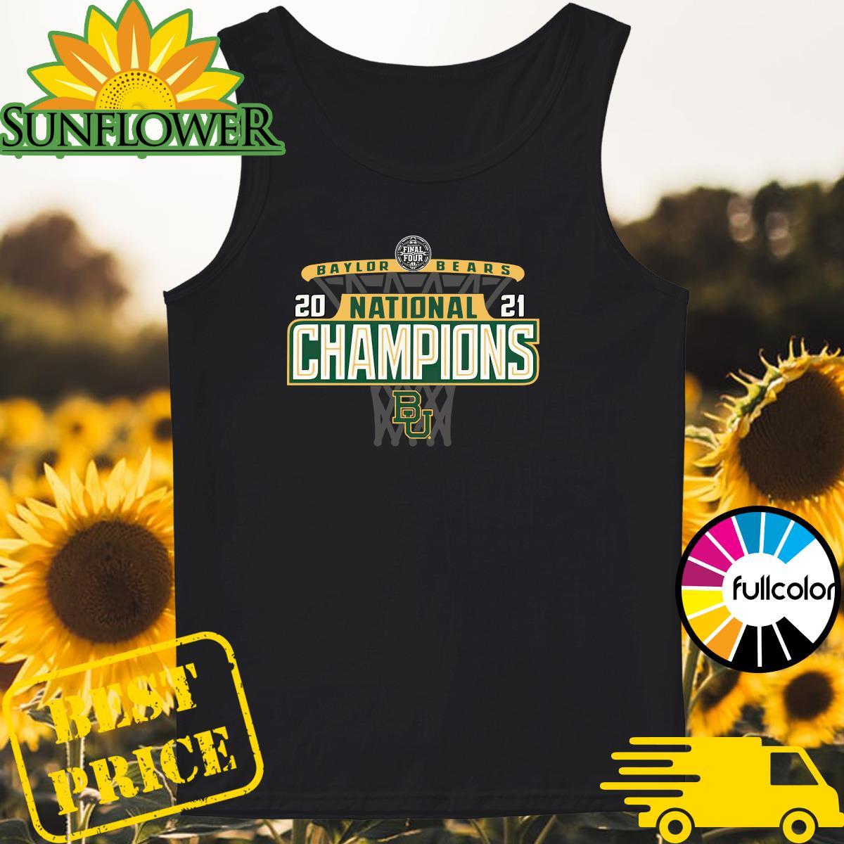 Official Baylor Bears 84 2021 NCAA Men's Basketball National Champions Bracket Shirt Tank-top