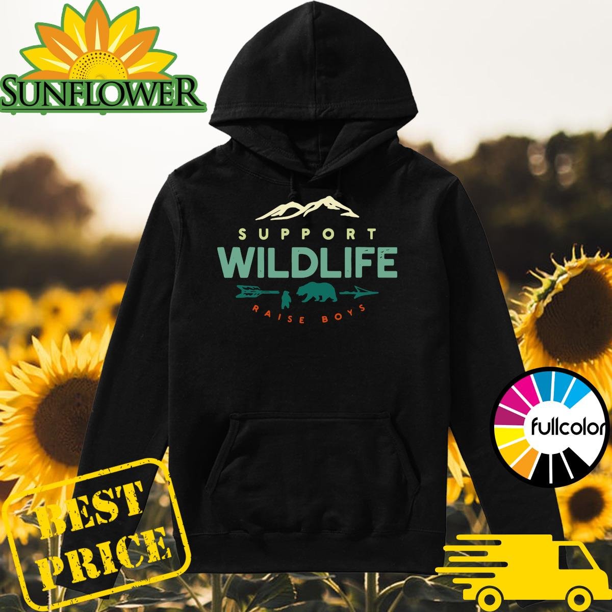 Official Support Wildlife Raise Boys Shirt Hoodie