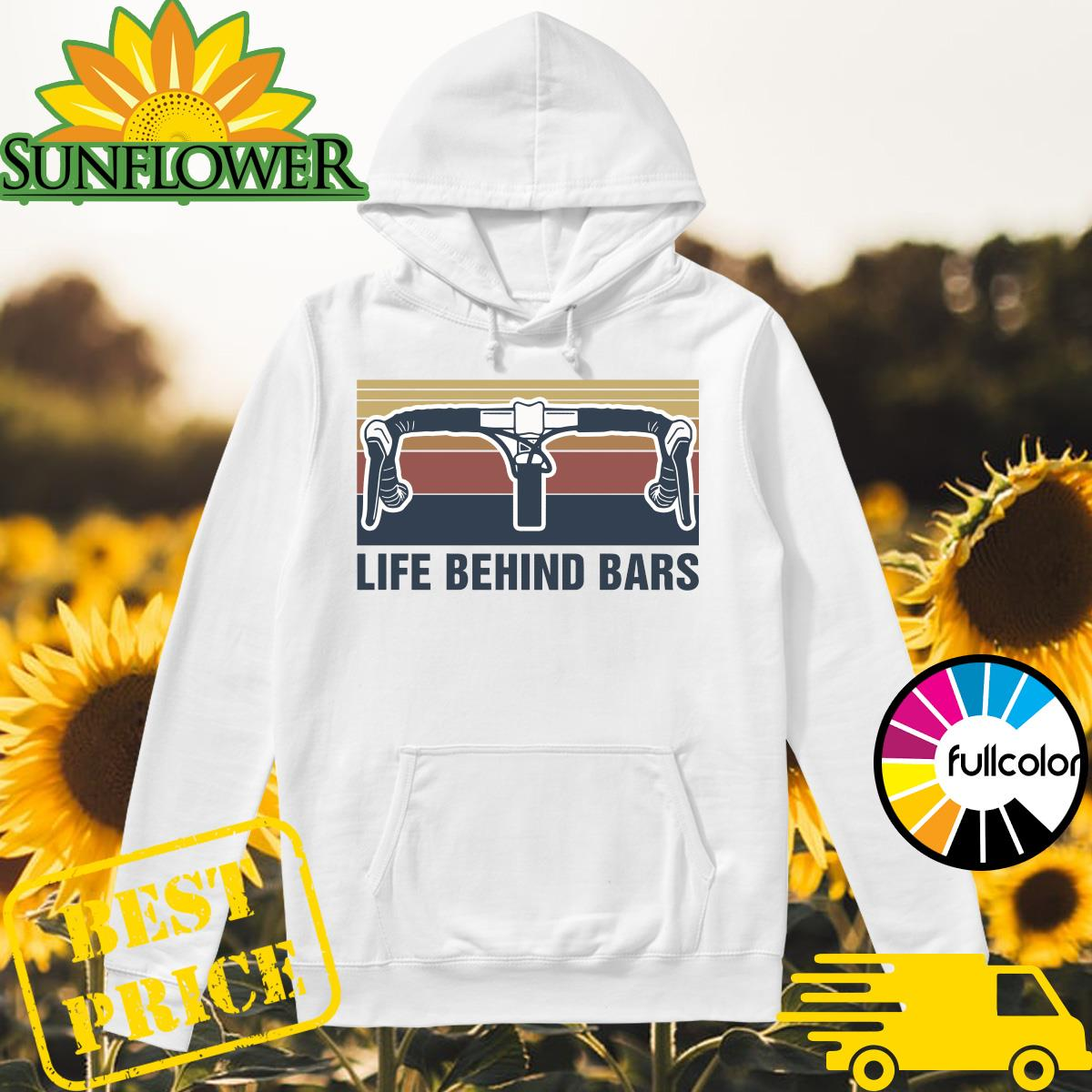 Official Vintage Cycling Life Behind Bars Shirt Hoodie