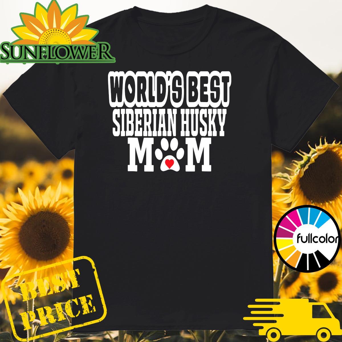 Official World's Best Siberian Husky Mom Dog Lover Shirt