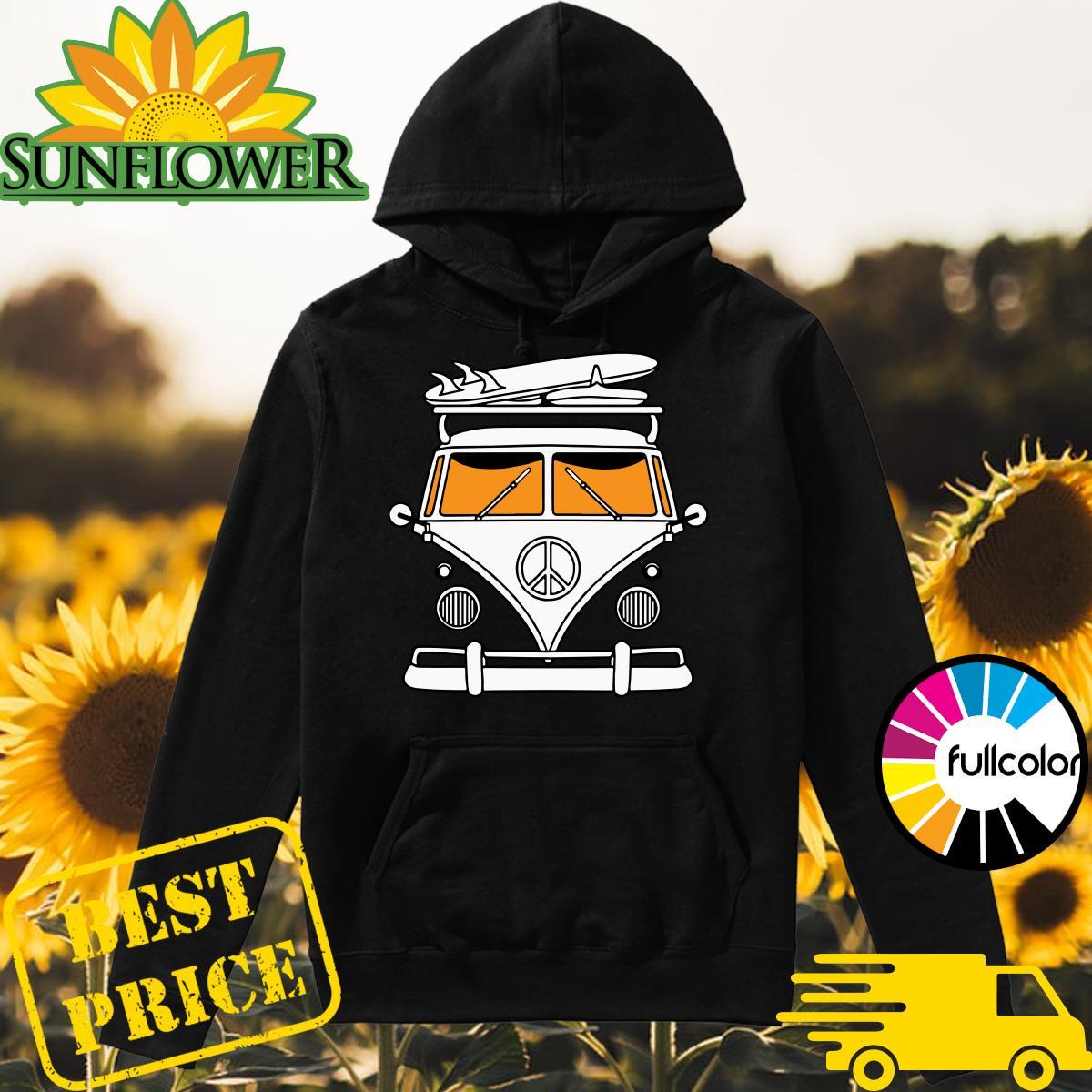 Peace Bus & Surfer Board Shirt Hoodie