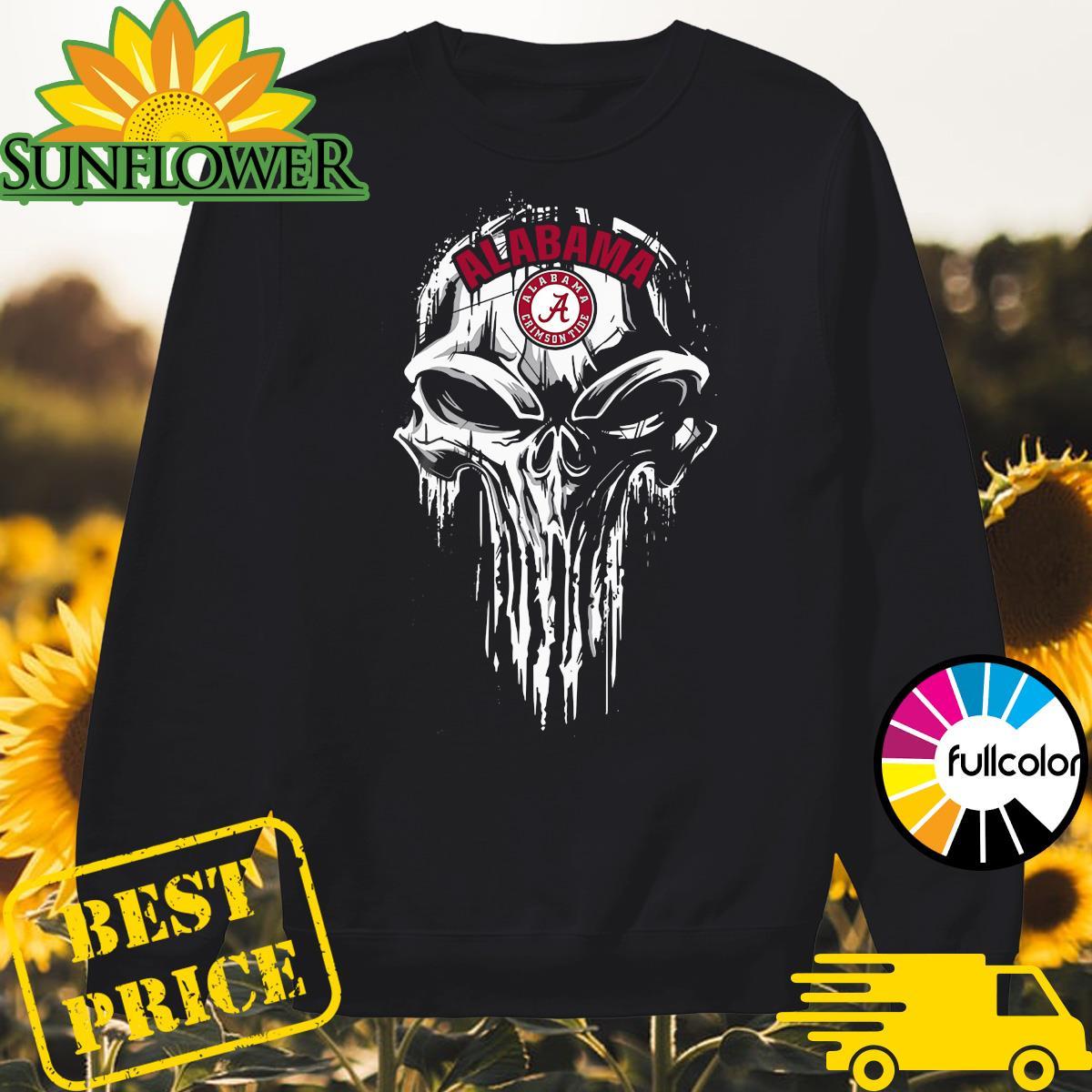 Alabama Crimson Tide Punisher Skull Sweater