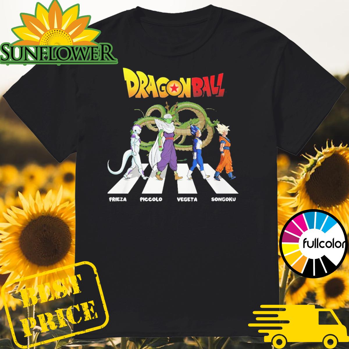 Dragon Ball Frieza Piccolo Vegeta Songoku walking on the street shirt
