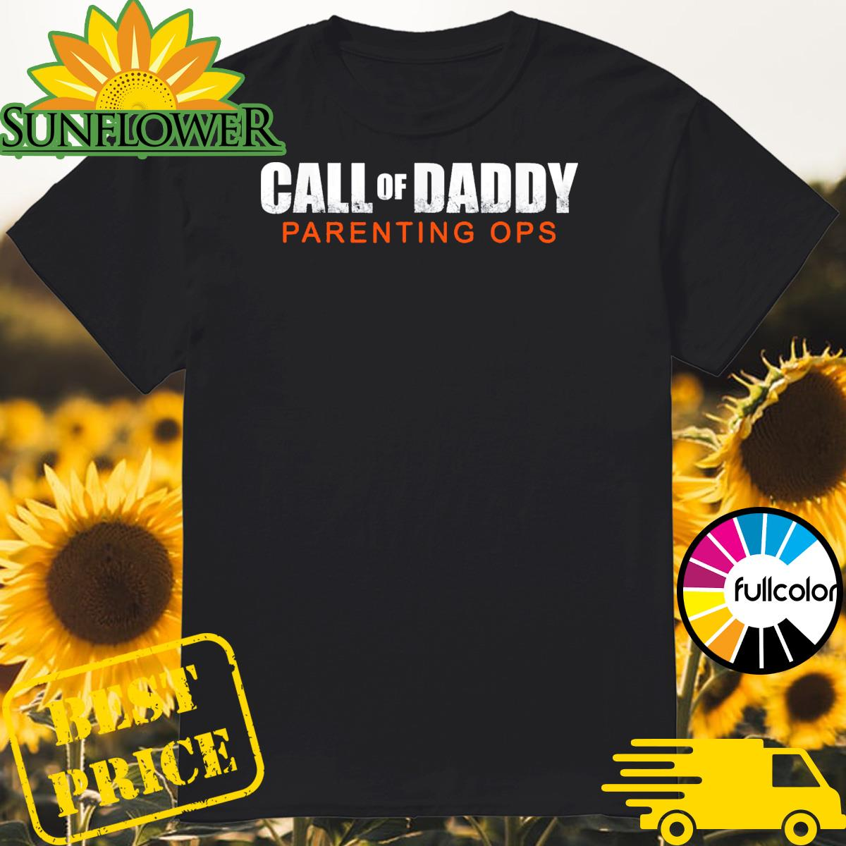 Gamer Dad Call of Daddy Parenting Ops shirt