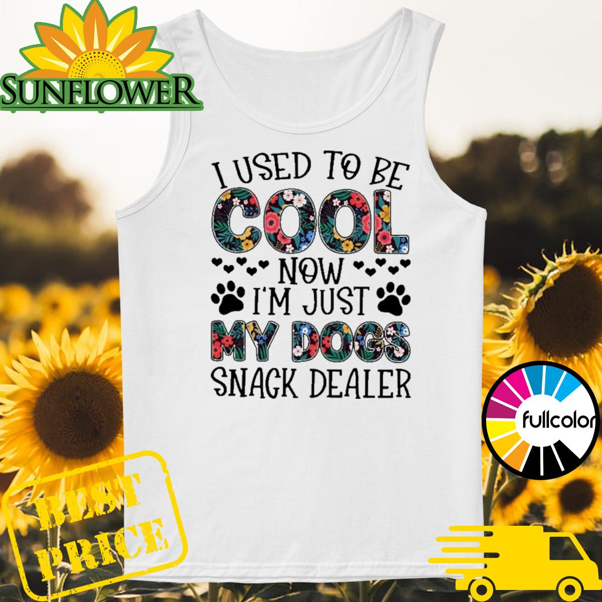 I used to cool now I'm just my dogs snack dealer floral Tank-top